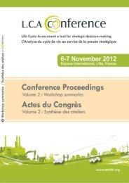 Congrès International sur l'Analyse du Cycle de Vie Lille ... - avniR