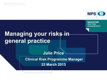 Medical Protection Society - Practice Management