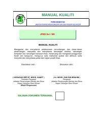 1) manual kualiti - JPBD Selangor