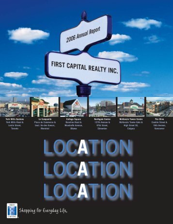 2006 - First Capital Realty