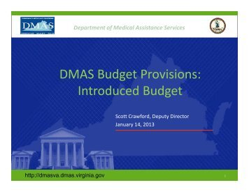 Presentation - House Appropriations Committee