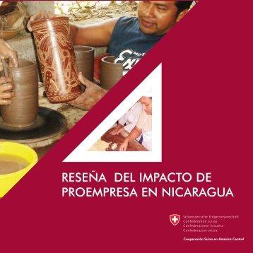Reseña del impacto de ProEmpresa en Nicaragua, 2008 - Pymerural