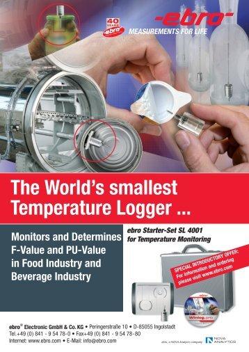 The World's smallest Temperature Logger ... - PROREG Control AB