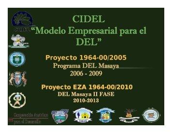 """CIDEL """"Modelo Empresarial para el DEL"""" - Pymerural"""