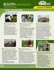 Boletín Electrónico PYMERURAL - Septiembre a Octubre 2011