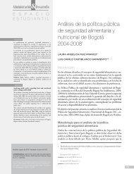 Análisis de la política pública de seguridad alimentaria y nutricional ...