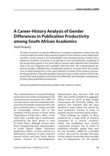 an analysis of the difference of gender Less work has been performed comparing gender differences related to clinical   for this analysis, 87% were men and 13% were women, yielding a sex ratio of .