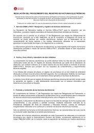 regulación del procedimiento del registro de facturas electrónicas