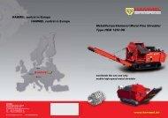 Metallfeinzerkleinerer/ Metal Fine Shredder Type HEM 1250 DK