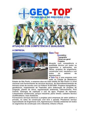 Apresentação da empresa (Geo-Top)Atual-843.pdf - Logo do Radar ...