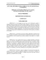 Ley para Menores Infractores en el Estado de Baja California - Tijuana