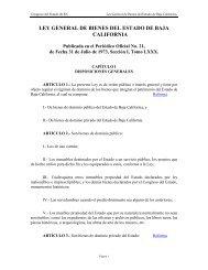 Ley General de Bienes del Estado de Baja California - Tijuana