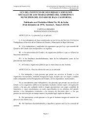 LEY DEL INSTITUTO DE SEGURIDAD Y SERVICIOS ... - Tijuana