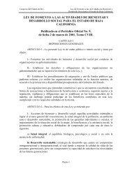 LEY DE FOMENTO A LAS ACTIVIDADES DE BIENESTAR ... - Tijuana