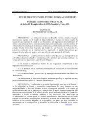 Ley de Educación del Estado de Baja California - Tijuana