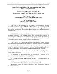 Ley del Régimen Municipal para el Estado de Baja California - Tijuana