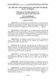 LEY ORGANICA DEL PODER LEGISLATIVO DEL ... - Tijuana
