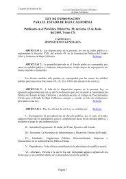Ley de Expropiación del Estado de Baja California - Tijuana