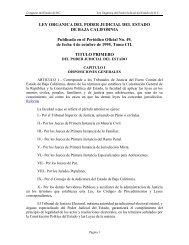 LEY ORGANICA DEL PODER JUDICIAL DEL ESTADO - Tijuana