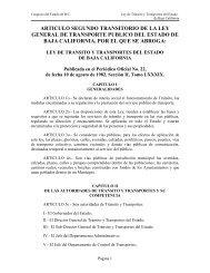 ARTICULO SEGUNDO TRANSITORIO DE LA LEY ... - Tijuana