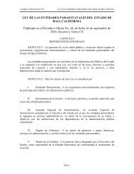 LEY DE LAS ENTIDADES PARAESTATALES DEL ... - Tijuana