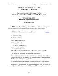 Código Fiscal del Estado de Baja California - Tijuana