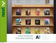 A short introduction to the tablet publishing