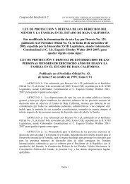 LEY DE PROTECCION Y DEFENSA DE LOS DERECHOS ... - Tijuana