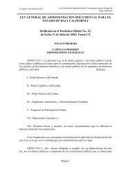 Ley General de Administración Documental para el Estado ... - Tijuana