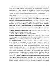 - - ACTA No. 34.- En la ciudad de Tijuana, Baja California, siendo ...
