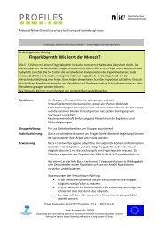 Unterlagen für Lehrpersonen