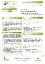 Bac Pro ELEEC - UIMM Drôme Ardèche