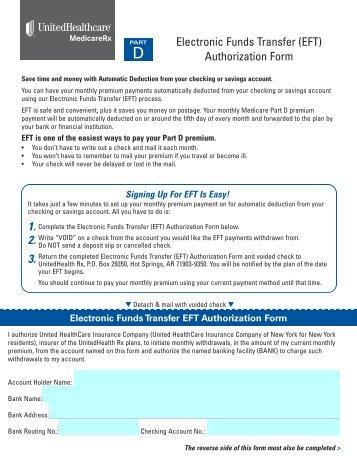 Electronic Funds Transfer (EFT) Form - UnitedHealthcare ...