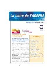 Juin 2005 - UIMM Drôme Ardèche
