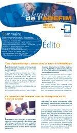 Février 2011 - UIMM Drôme Ardèche
