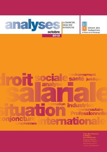 Analyse de l'actualité juridique et sociale - UIMM