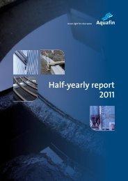 Half-yearly report 2011 - Aquafin