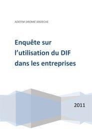 Résultat de l'enquête - UIMM Drôme Ardèche