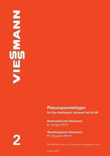 Planungsunterlage Viessmann Vitogas 200-F - Heizungen ...