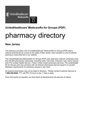 Pharmacy Directory   UnitedHealthcare MedicareRx For Groups (PDP)