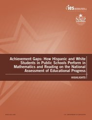 How Hispanic and White Students in Public Schools ... - ED Pubs