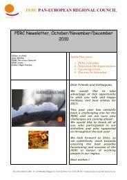 PERC Newsletter 20 (Oct-Dec) - Pan-European Regional Council