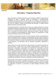 Informativo – Programa Soja Plus - ABIOVE - Associação Brasileira ...