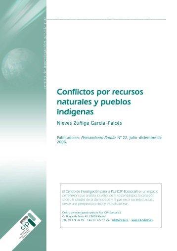 Conflictos por recursos naturales y pueblos indígenas - Fuhem