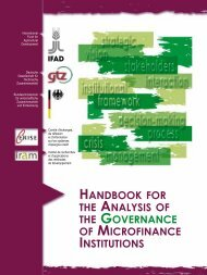 HANDBOOK FOR THE ANALYSIS OF THE GOVERNANCE ... - Cerise