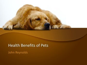 Health Benefits of Pets