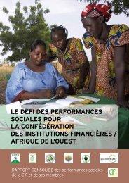 Rapport consolidé des performances sociales de la CIF - Cerise
