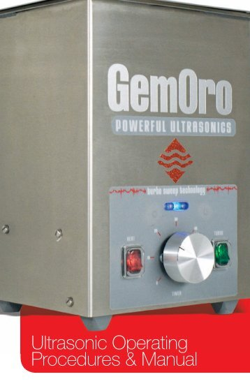 Ultrasonic Operating Procedures & Manual