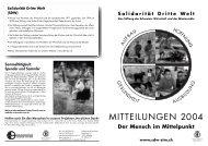 Mitteilungen 2004 - Solidarität Dritte Welt