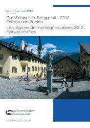 (pdf): Das Schweizer Berggebiet 2012 – Fakten und Zahlen